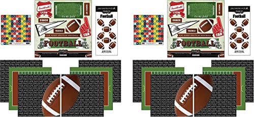 Scrapbook Customs Go Big Football Themed Paper and Stickers Scrapbook Kit Tw P ck