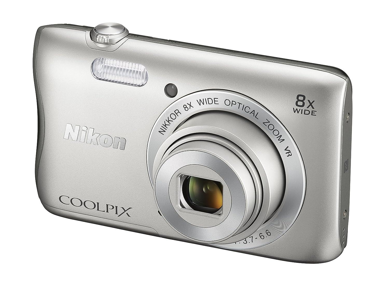 Nikon Coolpix S3700 Digitalkamera 26 Zoll Silber Kamera L340 Paket