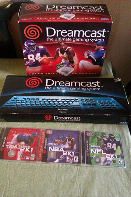 Amazon.com: WHITE EDITION SEGA DREAMCAST SPORTS PACKAGE BUNDLE ...