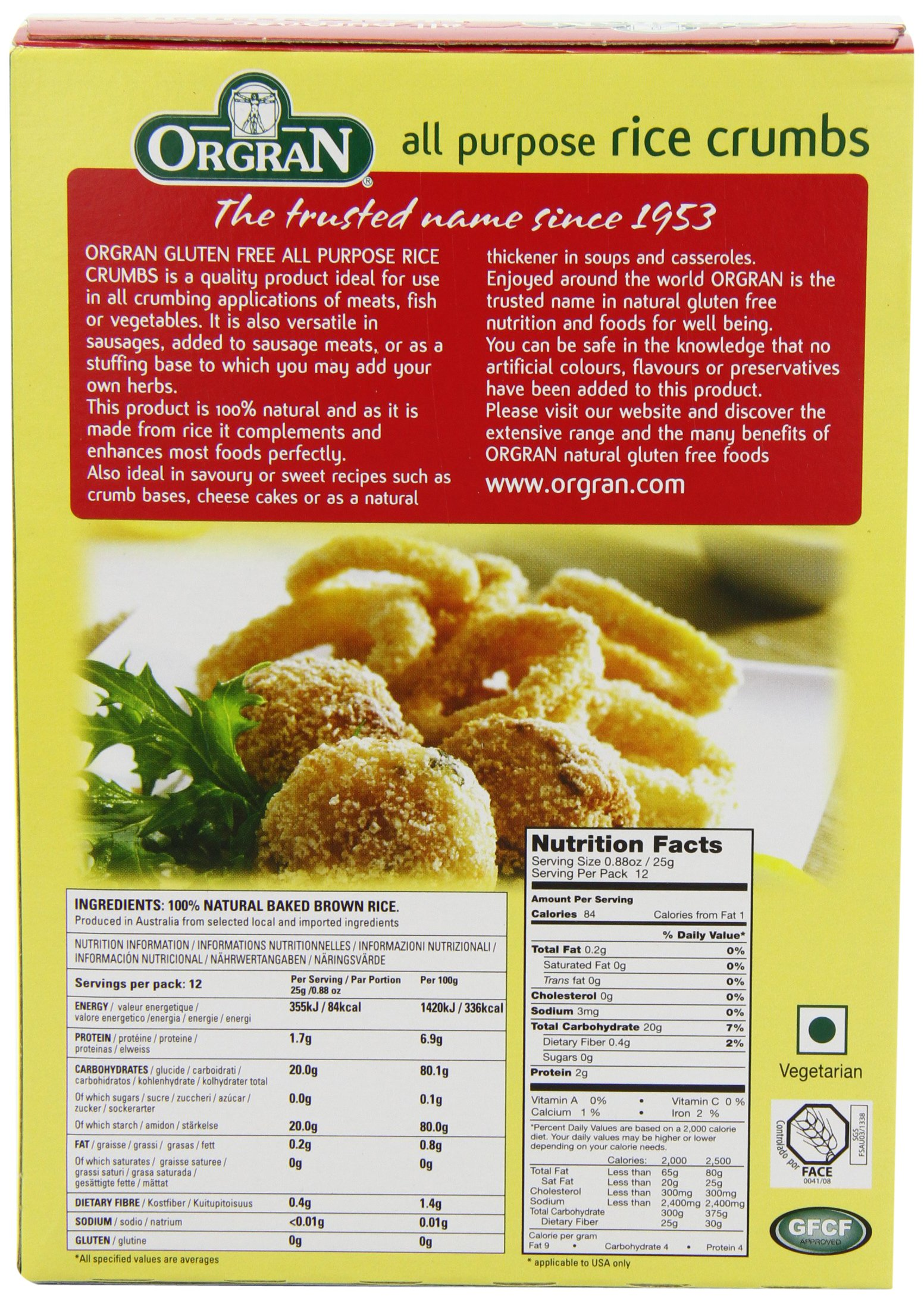 OrgraN All Purpose Rice Crumbs, 10.5-Ounce Boxes (Pack of 8) by Orgran (Image #5)