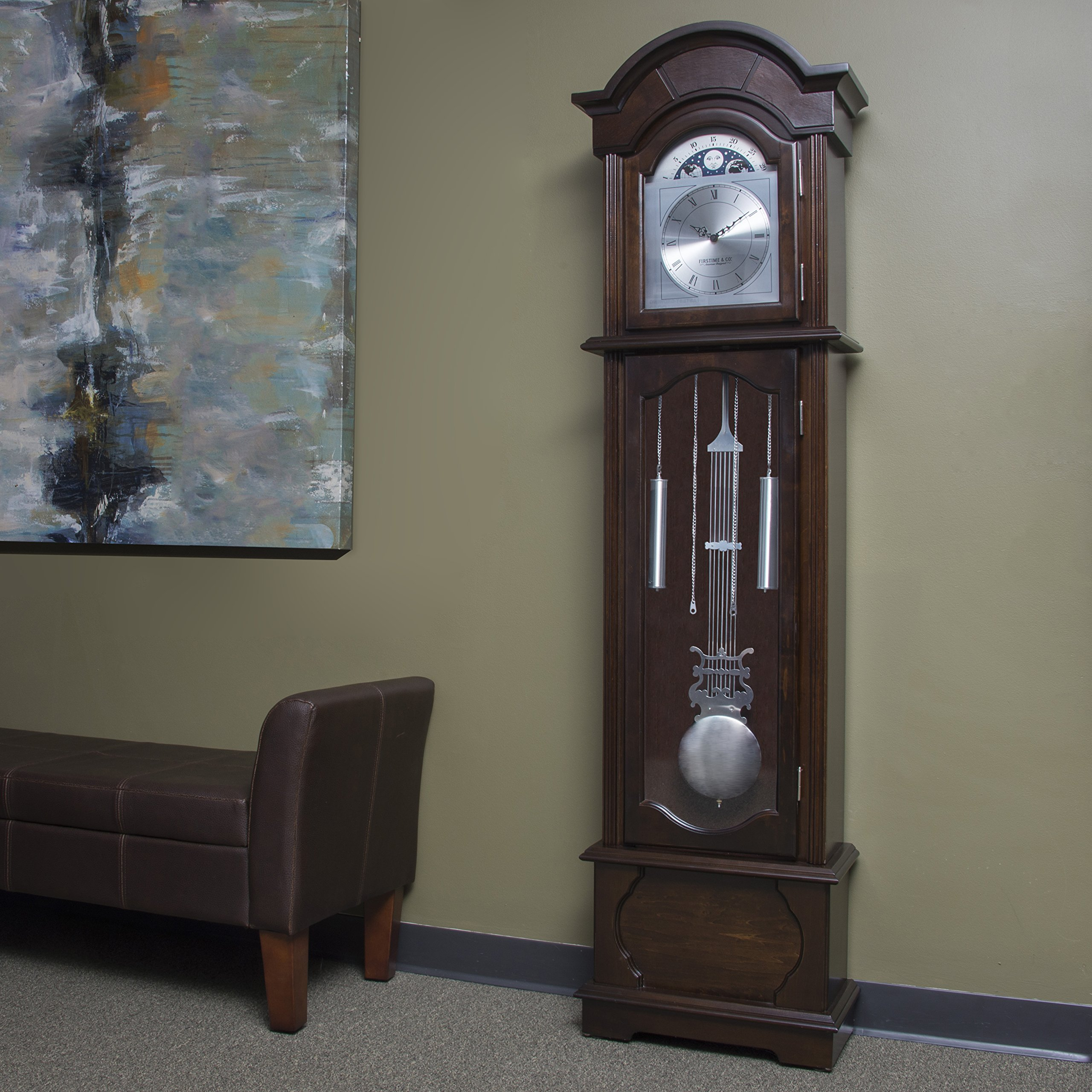 FirsTime & Co. Espresso Grandfather Clock, 72'' H x 19'' W x 9'' D, by FirsTime & Co.