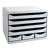Exacompta 307740d–Caisse de rangement, 7tiroirs, couleur gris