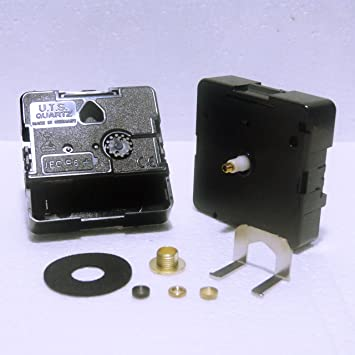 Repuesto de movimiento para reloj de cuarzo UTS, eje europeo, (longitud del eje 11 mm): Amazon.es: Hogar