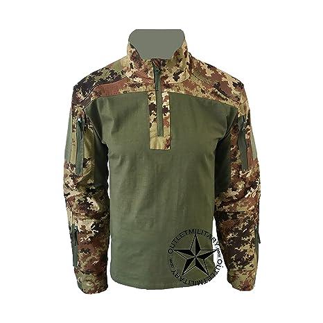6df62d69 OUTLET MILITARY Maglia Combat Shirt Militare Verde - Vegetato (L ...