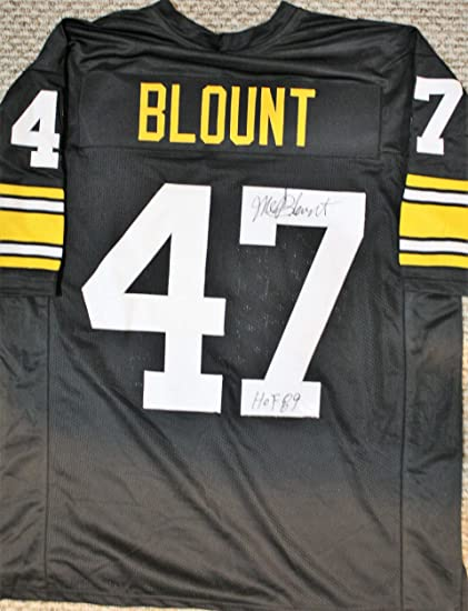 size 40 ef338 44896 Autographed Mel Blount Pittsburgh Custom Black Jersey with ...