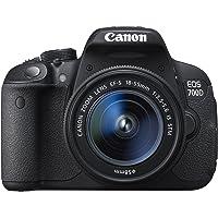 Canon 700D + EF-S 18–55mm dijital kamera 18megapiksel Siyah