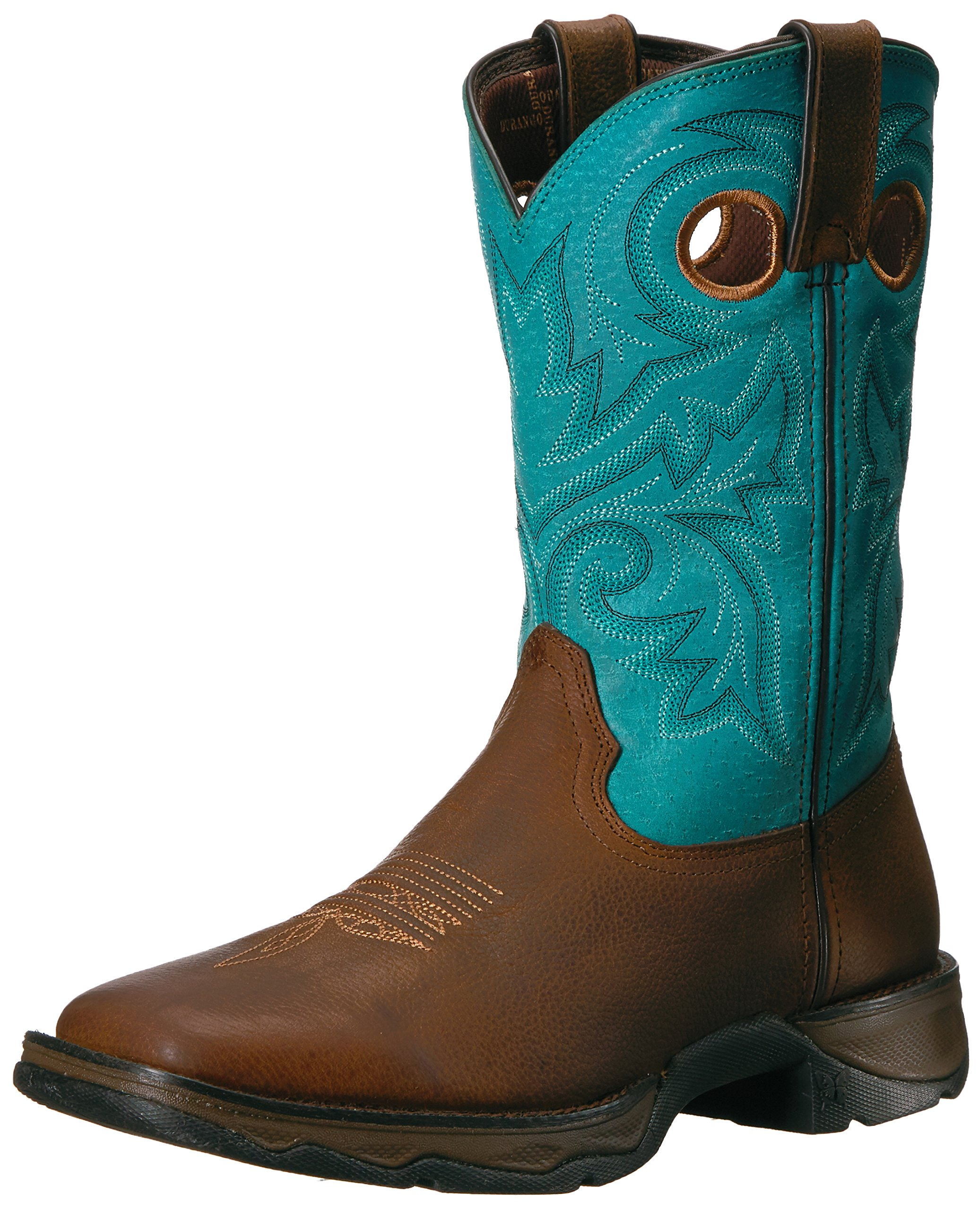 Durango Women's DWRD016 Western Boot, Brown/Turquoise, 6 M US