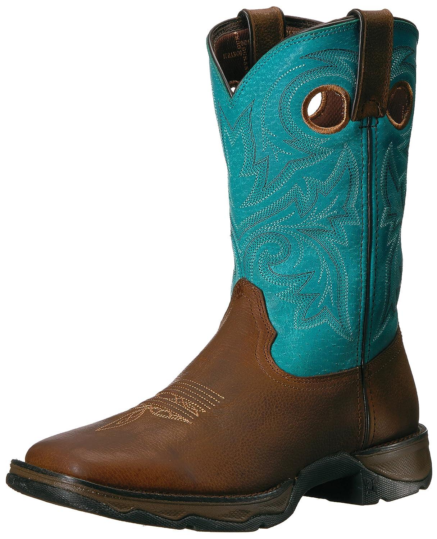 Durango Women's Dwrd016 Western Boot B00K5PHYMM 7 B(M) US|Brown/Turquoise
