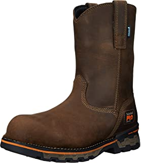 6e2b27e20a7 Amazon.com: Timberland PRO Men's AG Boss Soft-Toe Waterproof Pull-On ...