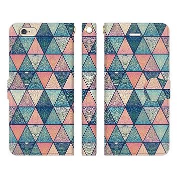 1177d1643d Ruuu iPhone6 iPhone6s 手帳型 スマホ ケース カバー エスニック 幾何学 タイル柄 type A 幾何
