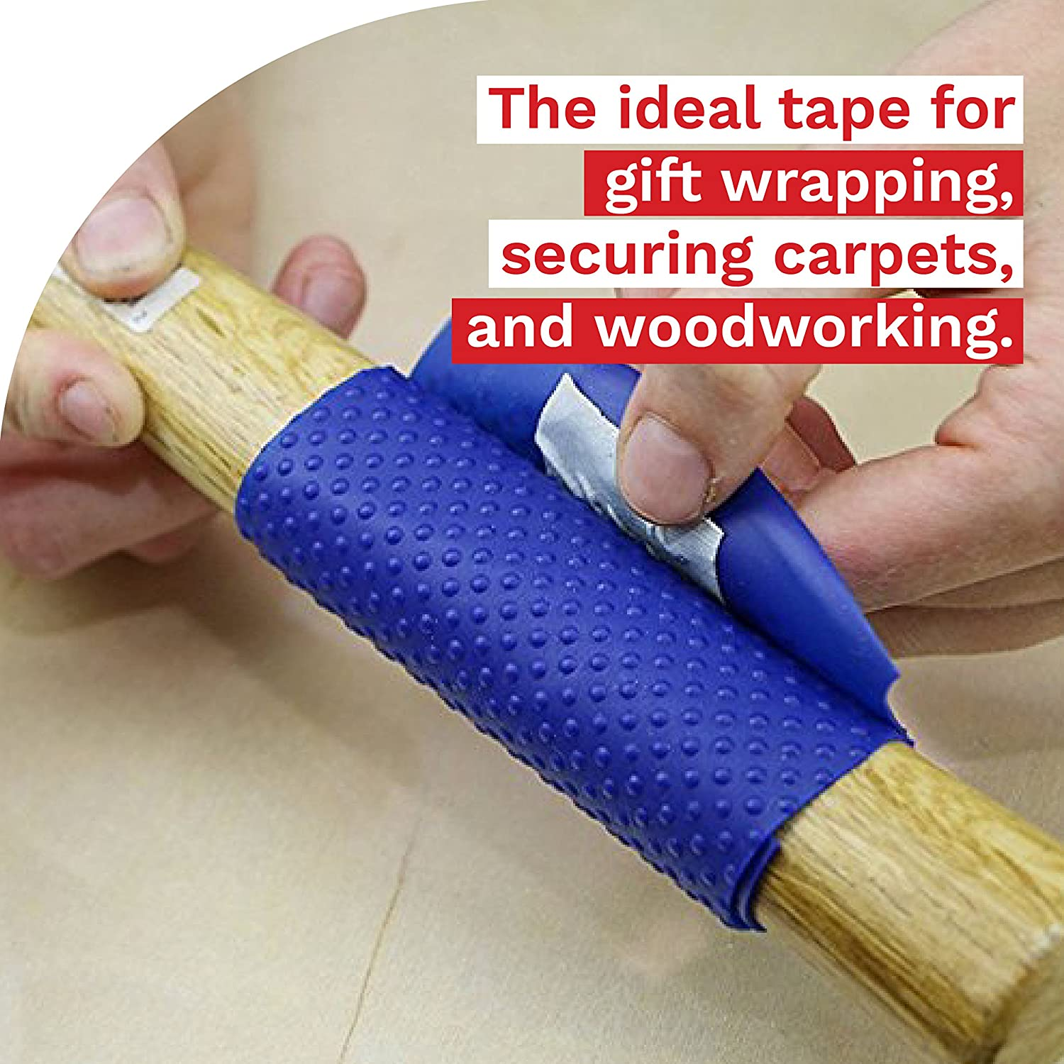 XFasten Double Sided Tape, Removable, 1-Inch by 20-Yard (Pack of 3) Ideal as a Gift Wrap Tape, Holding Carpets, and Woodworking : Office Products