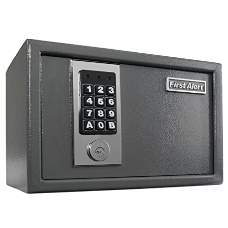 First Alert 2025f Anti Theft Safe 0 28 Cubic Foot Gray By First