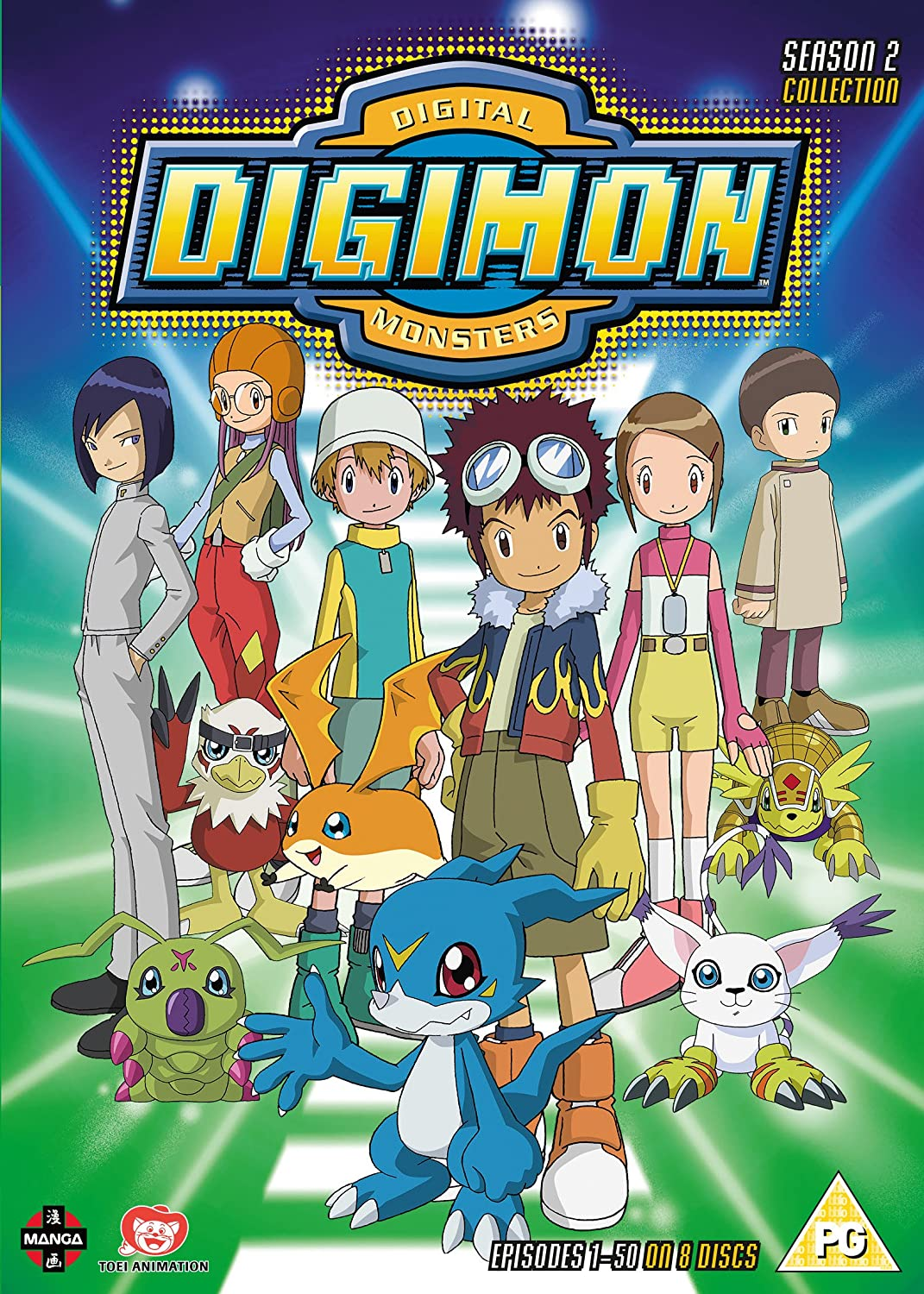 Image result for digimon digital monsters season 2 dvd cover manga entertainment