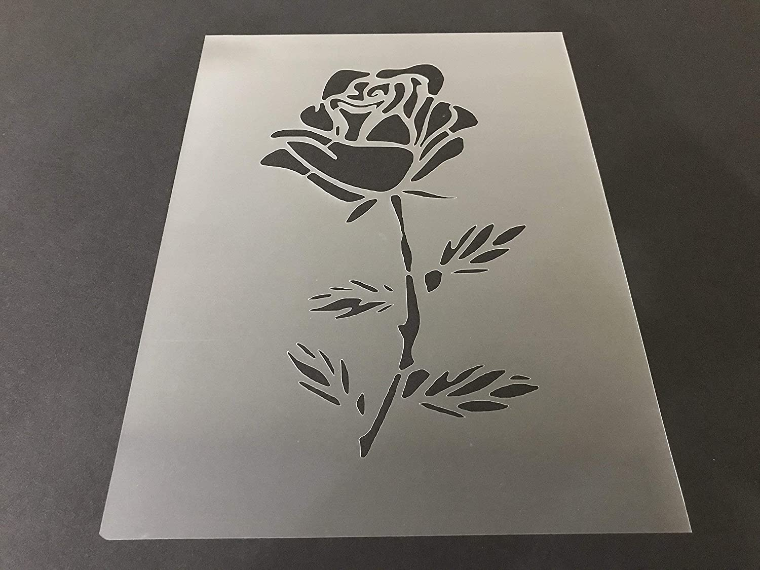 Rose Stencil #2 Reusable 10 mil Thick 8in x 10.5in sheet