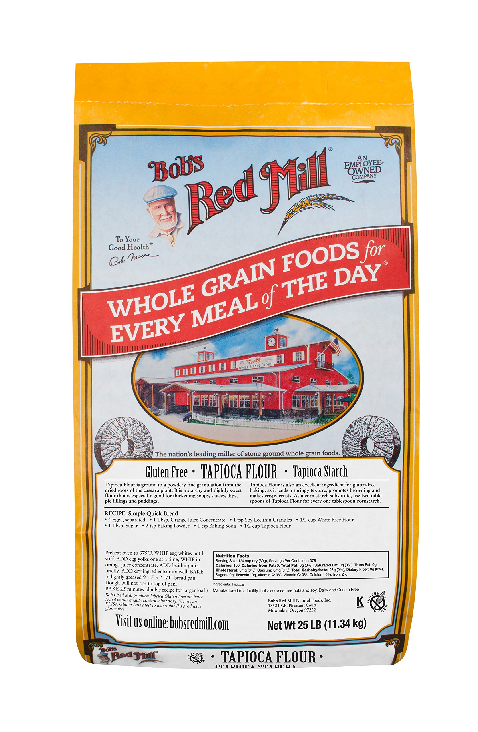 Bob's Red Mill Bulk Tapioca Flour, Gluten Free, 25 Pound by Bob's Red Mill