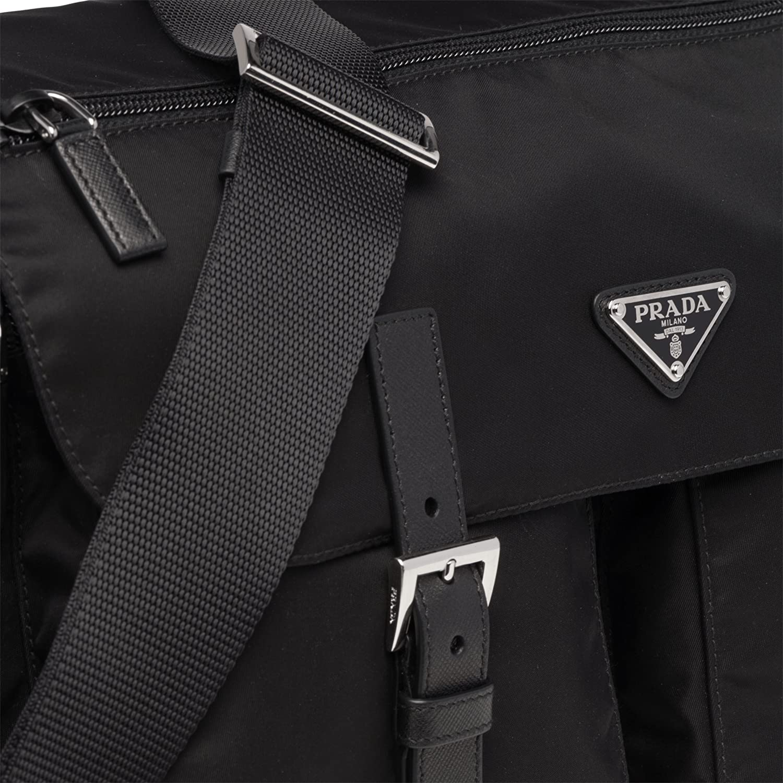 b1b977a848c3 ... switzerland amazon prada midnight black nylon fabric unisex designer  messenger bag 1bd738 messenger bags 98c6e b0696