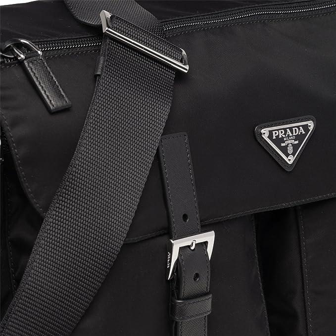 082a141bed11 Prada Women s Black Tessuto Messenger Bag 1BD738  Amazon.co.uk  Clothing