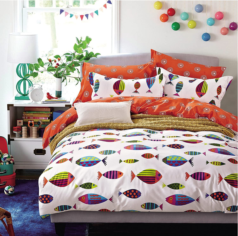 amazon com cliab ocean fish bedding twin bed sheets 100 cotton