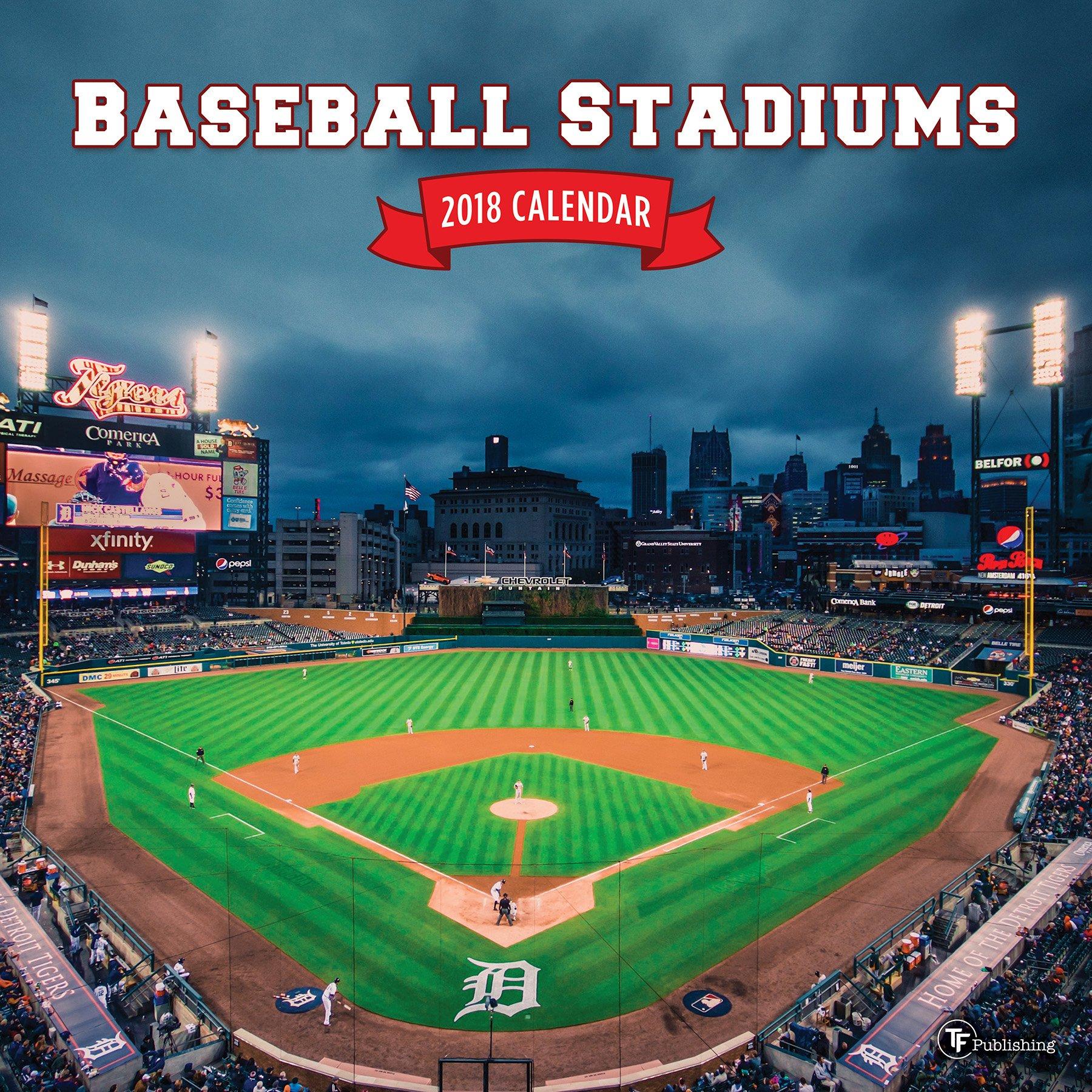 2018 Baseball Stadiums Wall Calendar by Time Factory