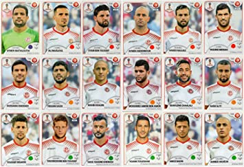 PANINI WORLD CUP 2018 STICKERS - 18 TUNISIA STICKERS - TEAM SET - PLAYERS  ONLY   f41a10437