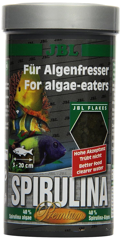 JBL Premium Alleinfutter für algenfressende Aquarienfische, Flocken, Spirulina Flocken 1 l 3000200