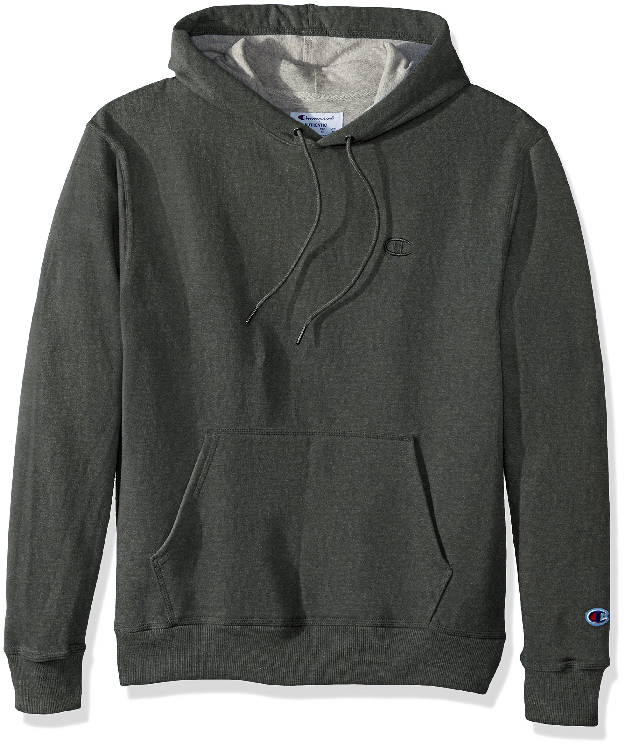 Champion Men's Powerblend Pullover Hoodie, Forest Grove Heather, Small