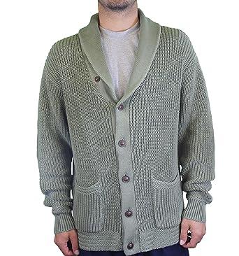 6e28c5285 Ralph Lauren Polo Men s Button Up Sweater 1813776WGB Green  Amazon.co.uk   Clothing