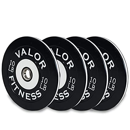 Bumper Plate Pro Blue//Black//White Valor Fitness 45Lb
