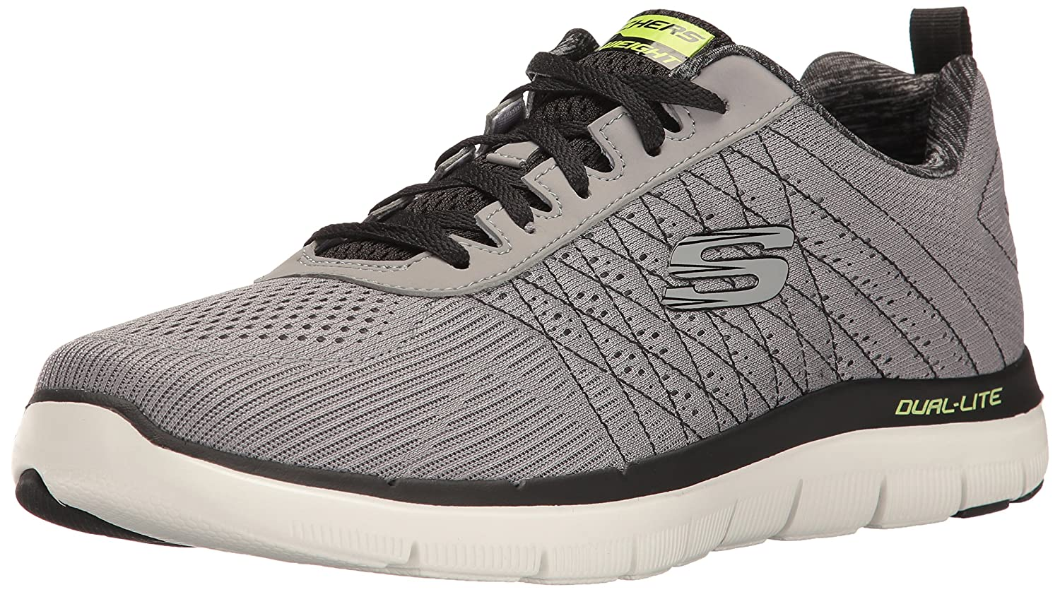 gris (Light gris noir) Skechers Flex Advantage 2.0-The Happs, Chaussures Multisport Outdoor Homme 40 EU