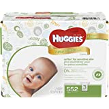 Huggies Natural Care Baby Wipes, Sensitive, Unscented, 3 Refill Packs, 552 Count Total