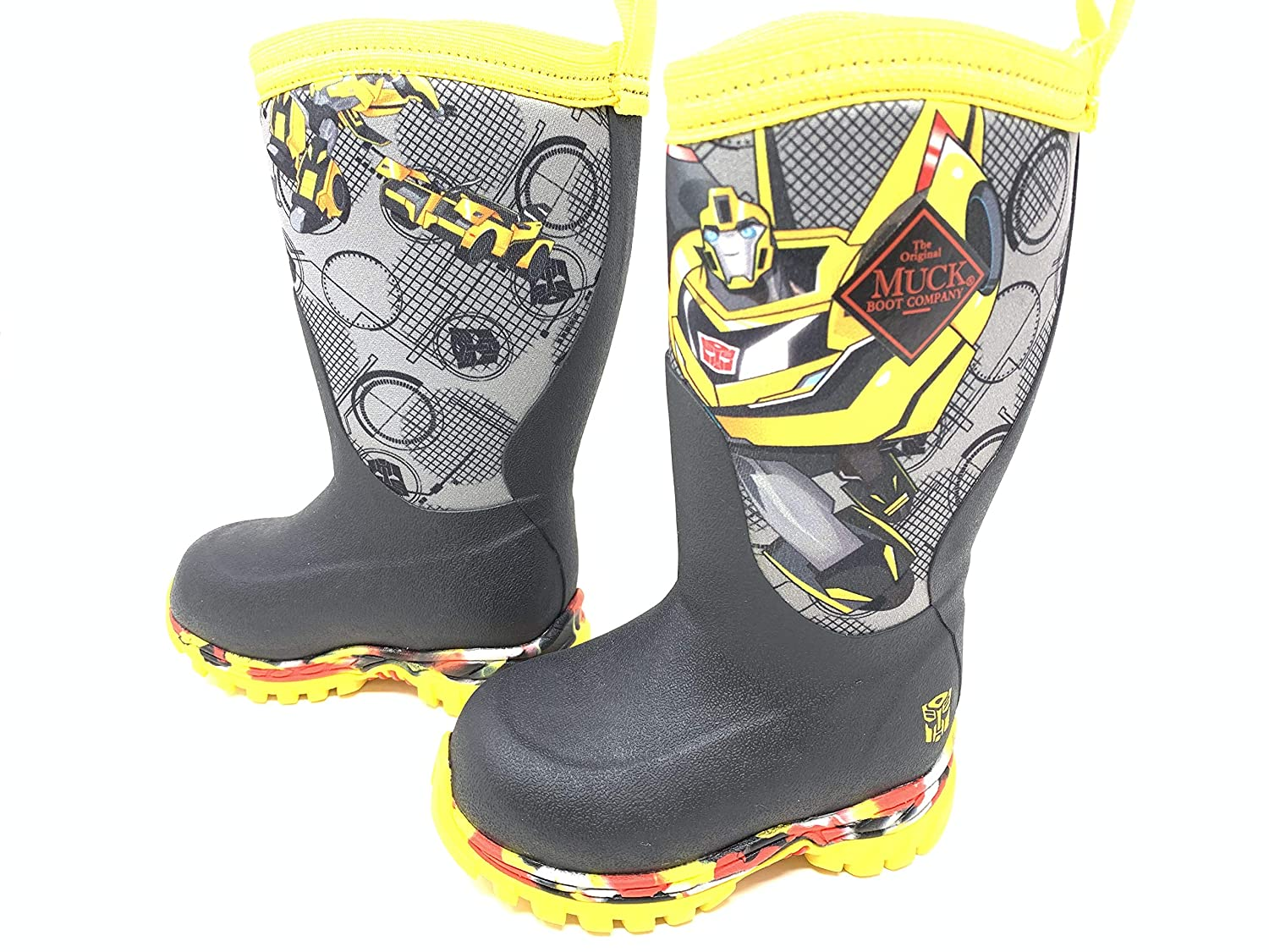 Muck Boot Boys Toddlers Rugged II Transformers Bumble Bee Boots Size 9