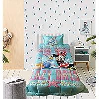 Disney Minnie Mouse Ocean Waves 100% Cotton Comforter/Blanket, Size - Standard Single 225 x 150 cms