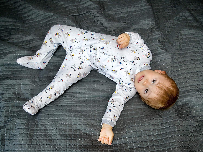 SIBINULO Gar/çons Filles Pyjama B/éb/é Grenouill/ère ABS Lot de 2