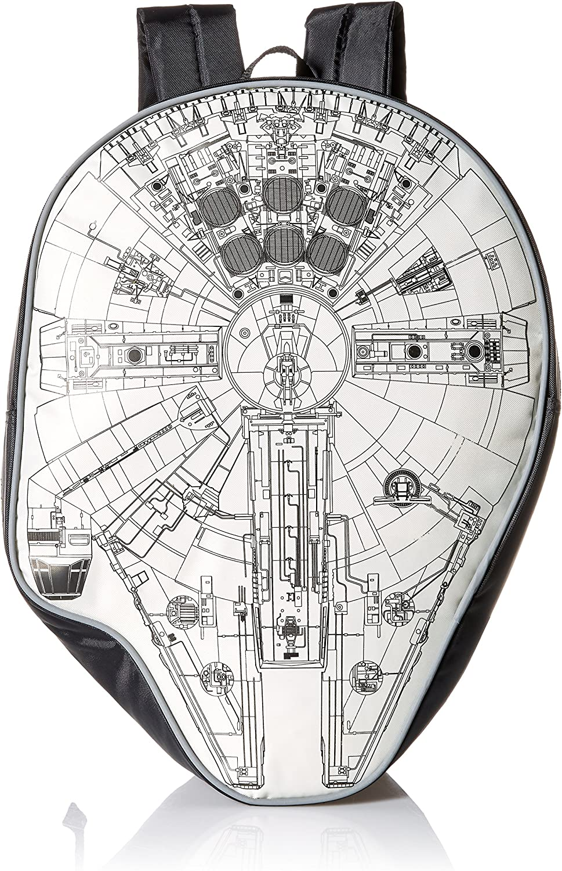 Star Wars Boys Disney Millennium Falcon Dye Cut Black 16 Backpack
