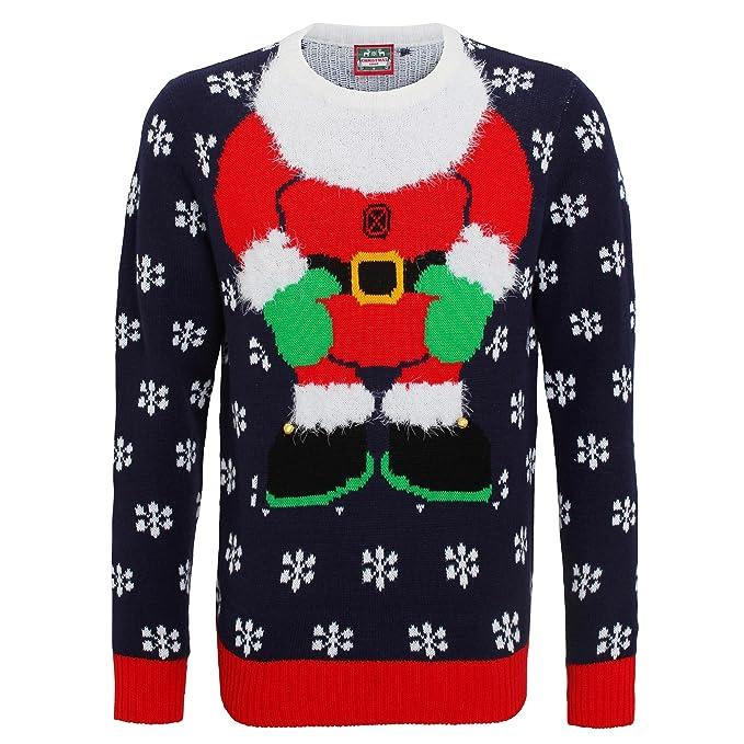 immagini dettagliate 2acf3 63cca Christmas Shop - Maglione con applicazioni 3D - Babbo Natale ...