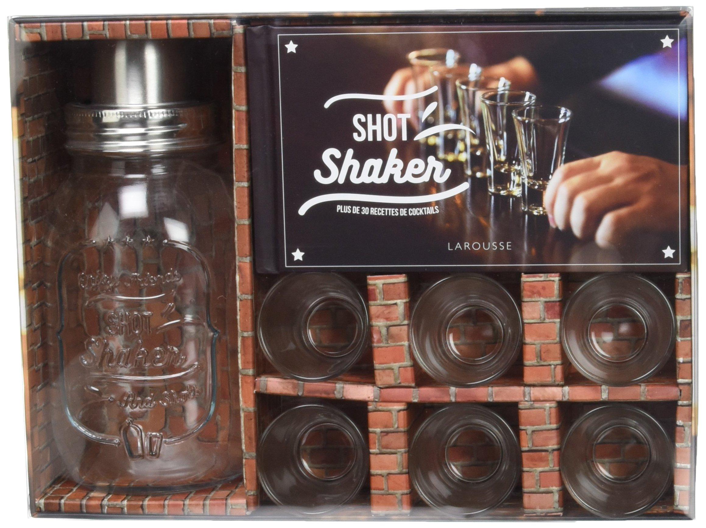 Shot shaker, plus de 30 recettes de cocktails : Avec 1 shaker et 6 verres à shot Coffret produits – 12 octobre 2016 Sandrine Houdré-Grégoire Matthias Giroud Fabrice Besse Larousse