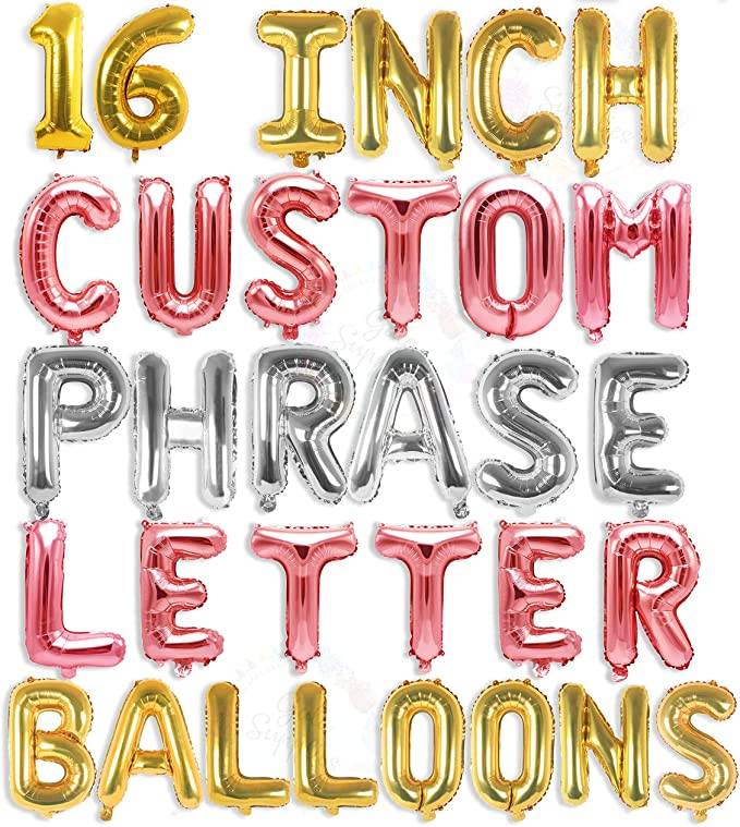 """Details about  /NEW  Themed  Party Letter A Gold Minishape Foil Balloons 16/""""///""""40cm A04"""