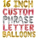 """Letter Balloons - Custom Phrase 16"""" Inch Alphabet Letters & Numbers Foil Mylar Balloon 