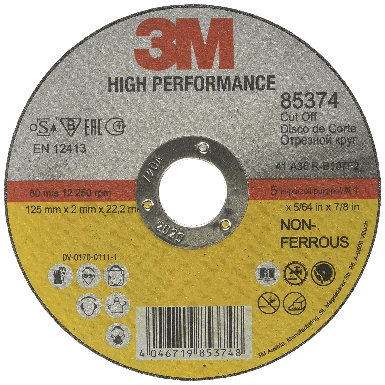1,6/mm tipo 41 25/unidades 3M 85359/High Performance Disco de corte 115/mm acero 22,23 mm