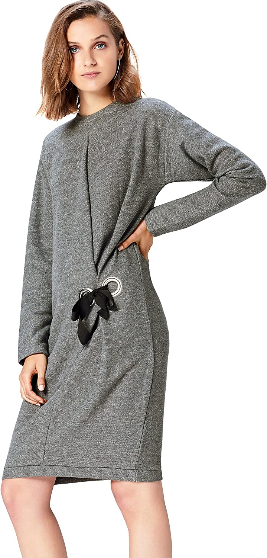 Marca Amazon - find. Vestido Sudadera para Mujer