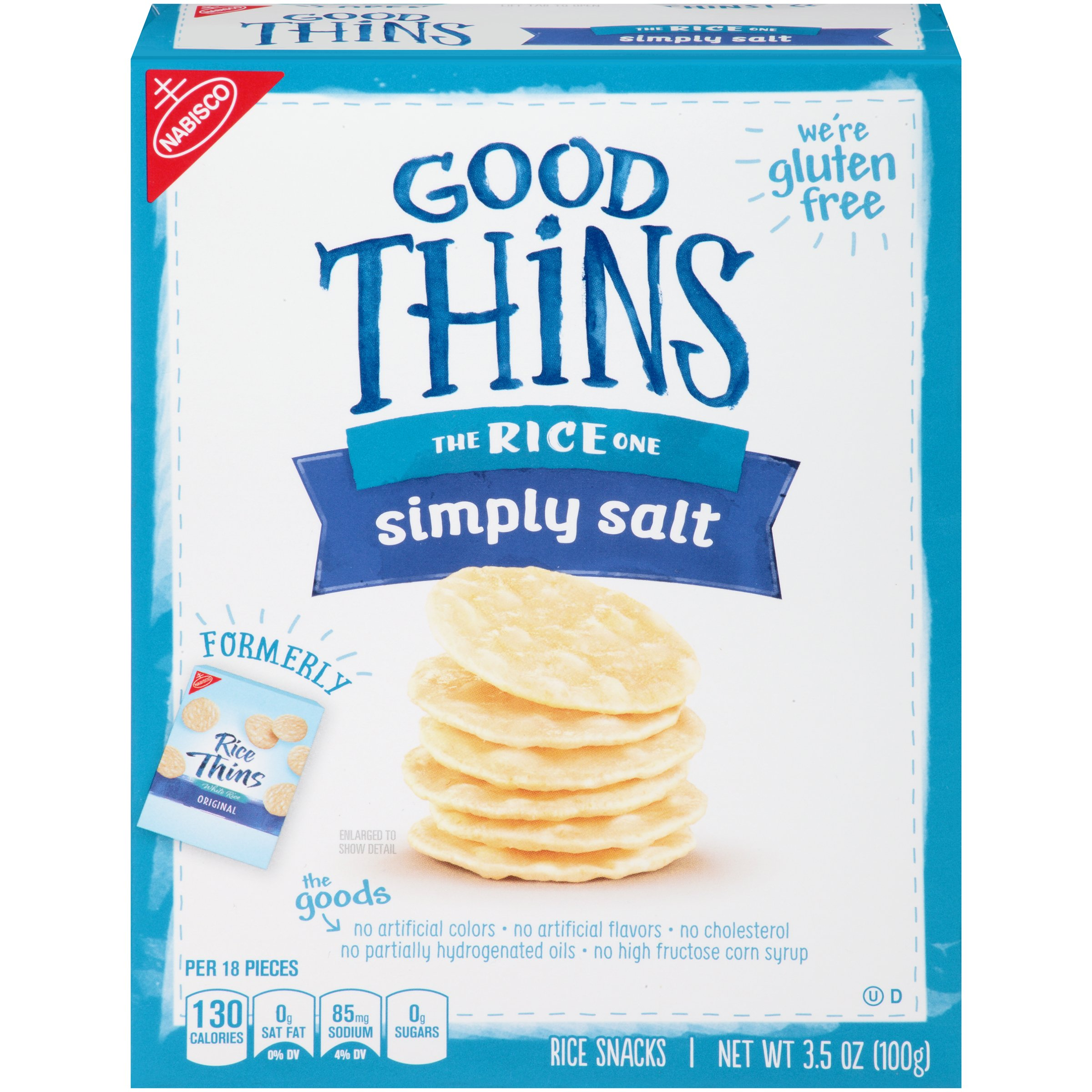 Good Thins Gluten Free Rice Crackers - Simply Salt - 12 Boxes (42 Ounces Total) by Good Thins