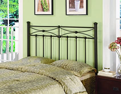 b8edc055e23f5e Image Unavailable. Image not available for. Color: Metal Full/Queen  Headboard ...