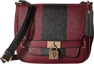 d6c423c4b9b U.S. POLO ASSN. Women's Robinson Shoulder Bag Merlot Handbag ...