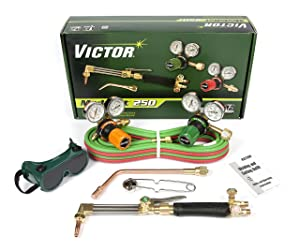 Victor Technologies 0384-2544 Medalist 250 System Medium Duty Cutting System, Propane/Natural Gas Service, G250-60-510LP Fuel Gas Regulator