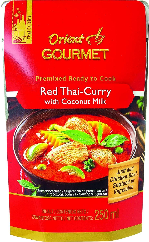 Orient Gourmet, Salsa de curry (Rojo) - 12 de 250 ml. (Total 3000 ...