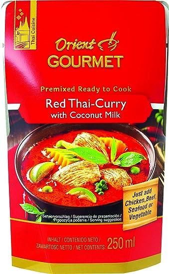 Orient Gourmet, Salsa de curry (Rojo) - 12 de 250 ml. (