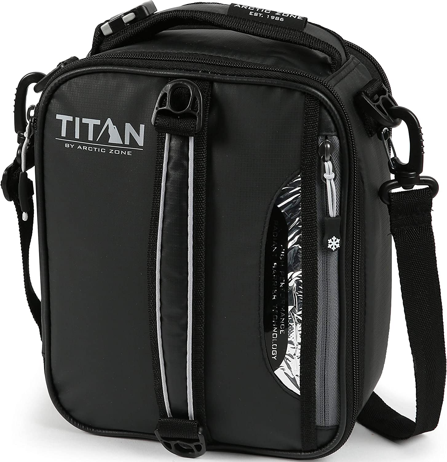 Arctic Zone Titan High Performance Insulated Expandable Lunch Pack, Black