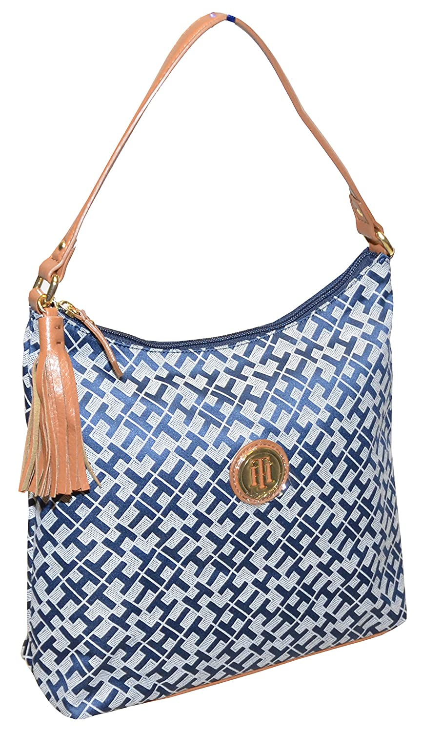 Tommy Hilfiger Women Jacquard Tassel Hobo Bag