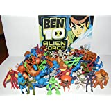Ben 10 Alien Force Mega Set Playset of 50 Alien Toy Figures Party Favors with Bonus Ben 10 Figure and Wristband!