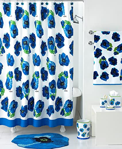 Vera Blue Poppies Shower Curtain 72quot